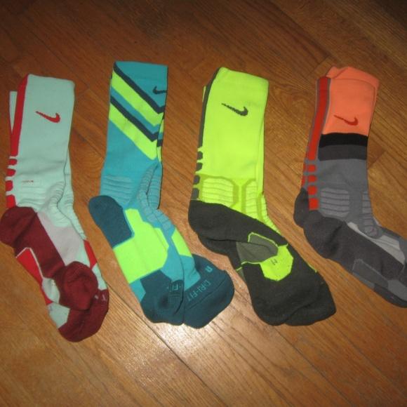 Men's Nike Elite Socks Lot of 4 Pairs